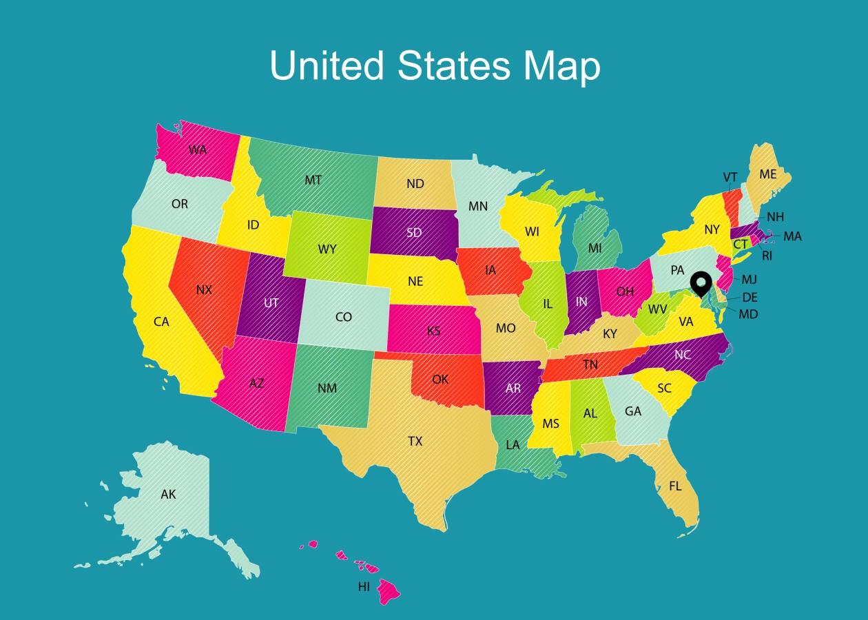 Map - 70x50 cm