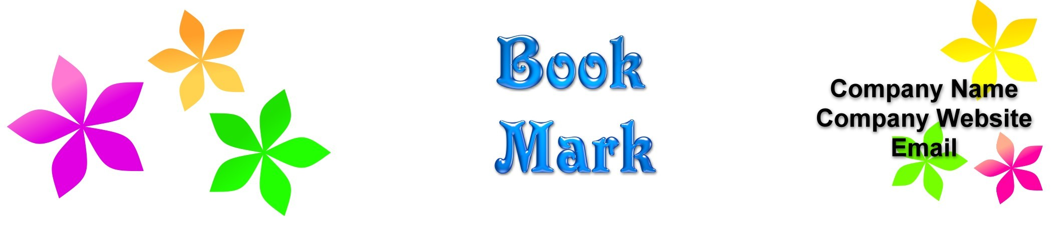 "Book Marks 1.5"" x 7"" Horizontal ( Qty: 500)"